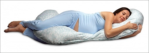comfy pregnancy pillow with a woman
